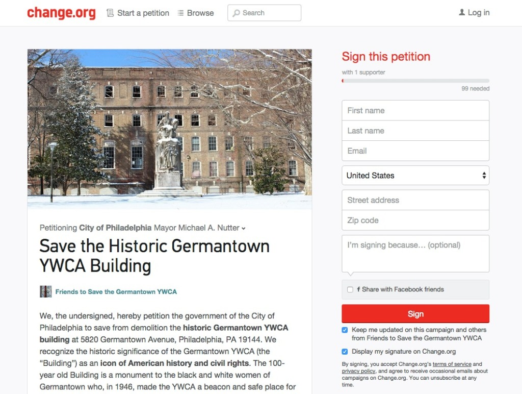 Sign the petition at Change.org to show your support for this great building and neighborhood.